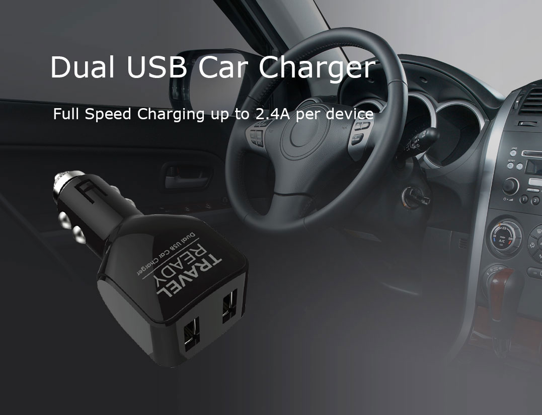 Travel Ready - Dual USB Car Charger